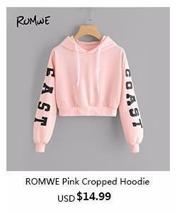romwe-ROMWE Pink Cropped Hoodie