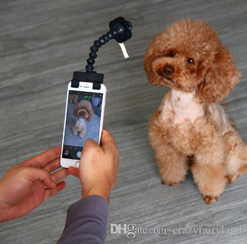 Pet Selfie Stick for Pets Dog Cat Portable Pet Selfie Stick Phone Attachment Dog Cat Take Photos Training Toy Pet Supplies Black White