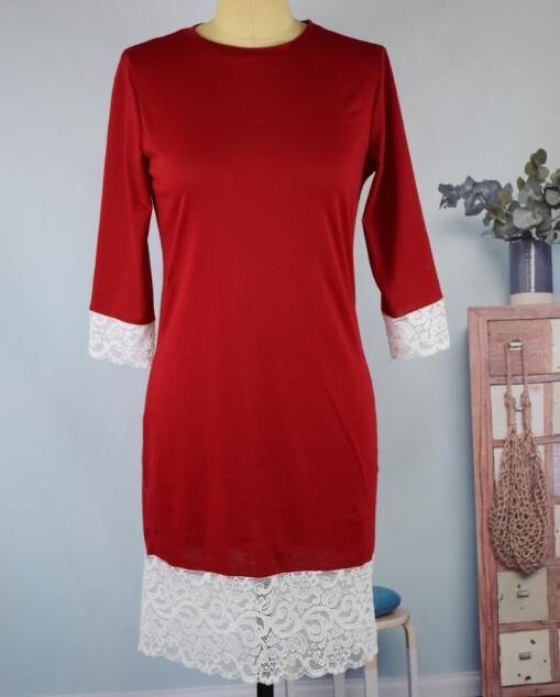 Natale Donna Casual Dress Donna Autunno Gonna Lady Dresse Abbigliamento Gonna stampata Studente moda Outfit Abbigliamento per ragazze Taglie forti 3XL QZZW110
