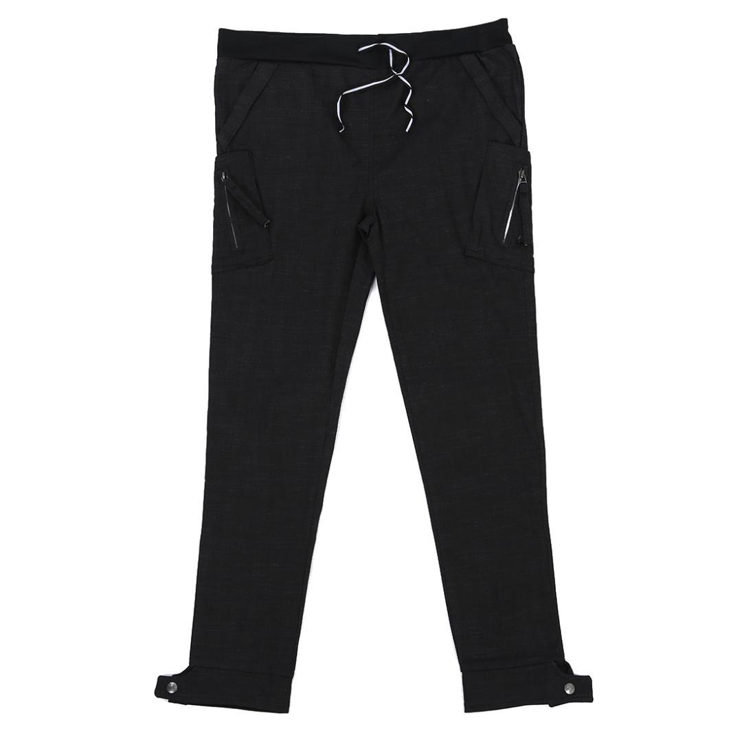 Men Casual Long Pants Ankle Tight Black Korean Style