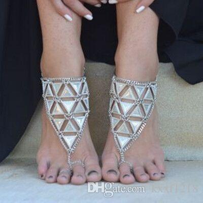 Vintage Moda Yaz Plaj Halhal Bilezik Infinity Ayak Takı Inci Boncuk Altın Gümüş Zincir Halhal Ayak Zinciri Kadınlar için Lot Toptan