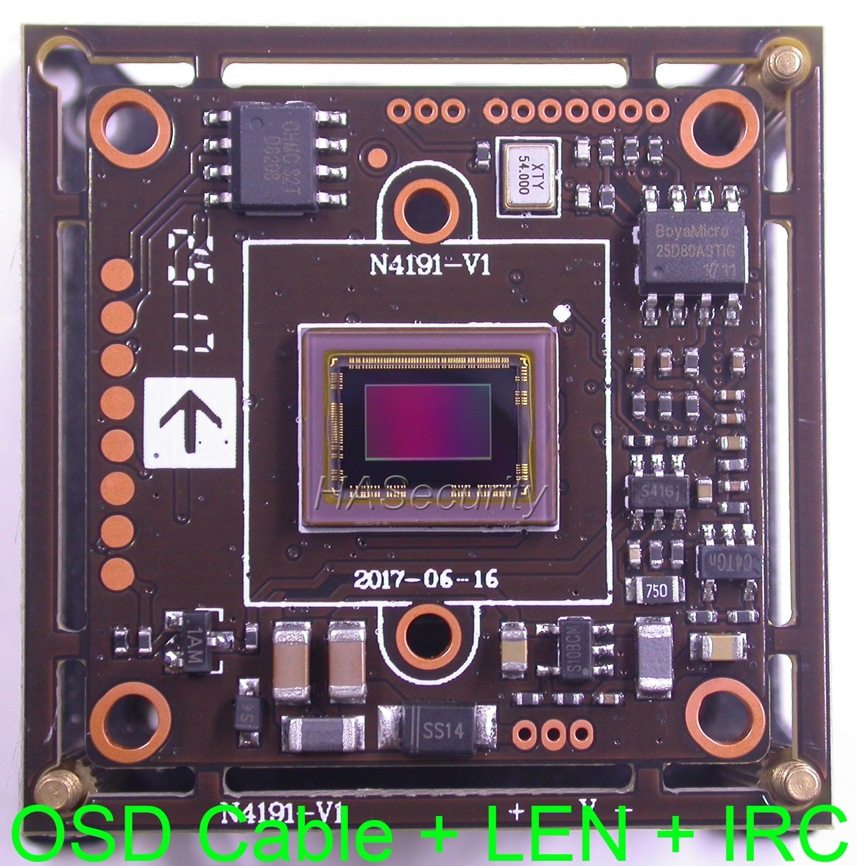 "AHD-H (1080P) / CVBS (D1) 1/2,8 ""Sony Exmor Starvis IMX291 CMOS + NVP2441 CCTV Camera PCB Moduł płytki + Kabel OSD + 1080P Lens + IRC"