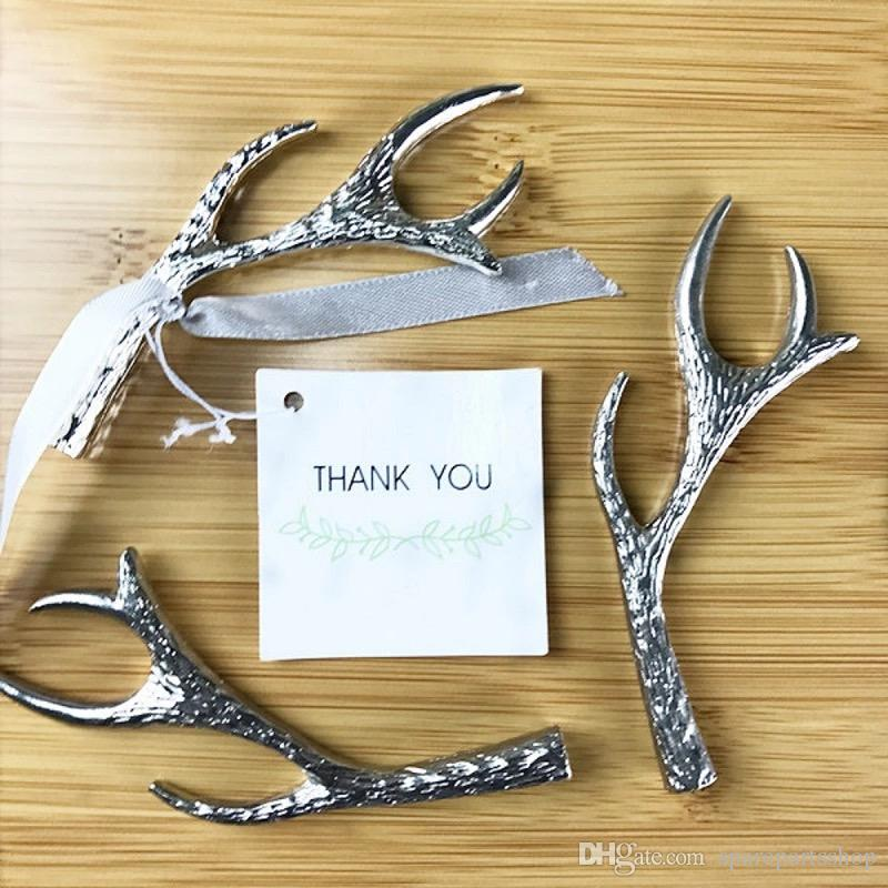 Unique Deer Antler Bottle Opener Wedding Bridal Shower Birthday Party  Favors Supplies For Guests Wholesales Personalized Wedding Favors Cheap