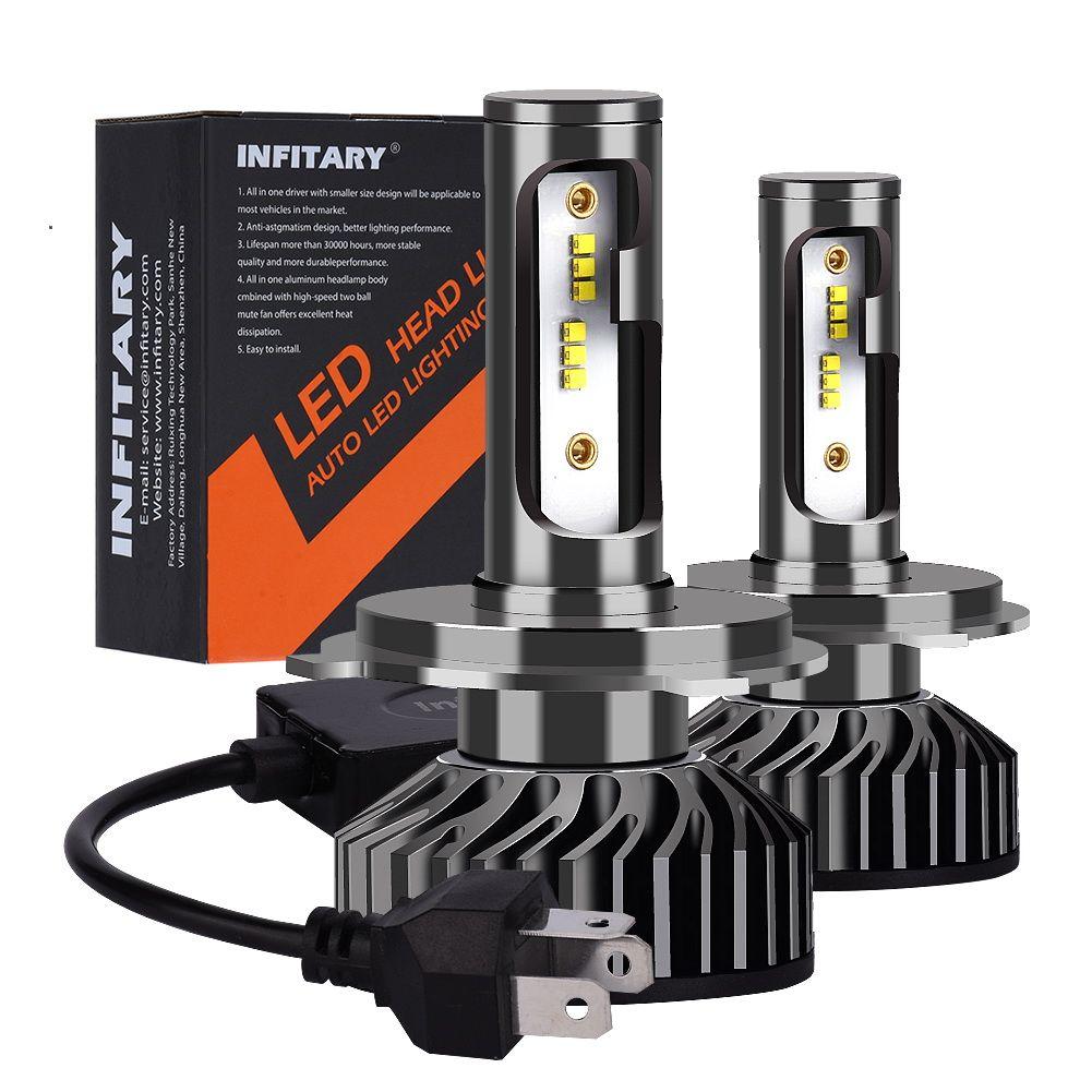 Bombillas LED para faros delanteros H1 H3 H4 H7 H11 H13 9004 9005 9006 Lámparas para auto Hi-Lo Single Beam 72W 6500K ZES Chips