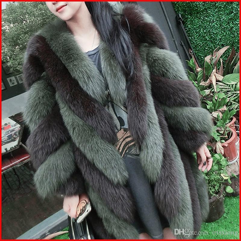 Cappotto di pelliccia nuova moda inverno sottile dimagrante imitazione pelliccia di volpe cappotto di pelliccia di grandi dimensioni di grandi dimensioni donne giacca s m LXLXXL XXXL speciale all'ingrosso
