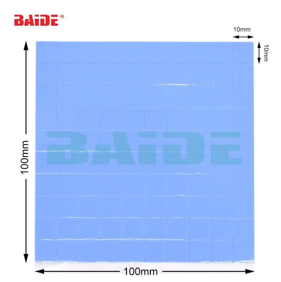 2019 высокое качество 10 мм*10 мм*1 мм 100 шт. тепловой Pad GPU CPU радиатор охлаждения проводящие силиконовые Pad 10 мм*10 мм*0.5 мм