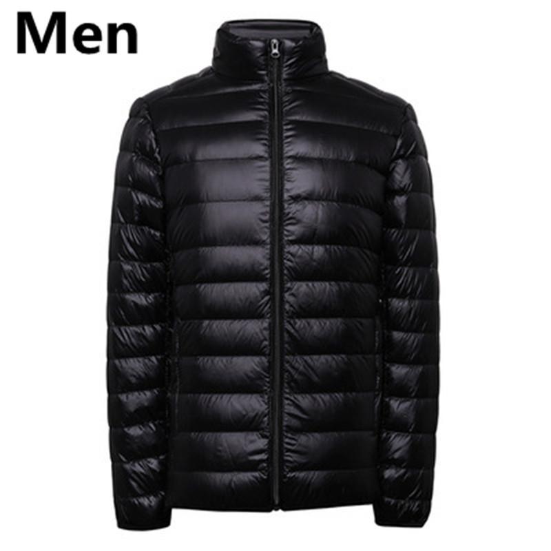 ROM IZQUIERDA parejas slim Fit 90% Pato blanco abajo chaqueta abajo / Mujer Los hombres se mantienen cálidos en invierno Super delgado delgado Slim Fit Down capa