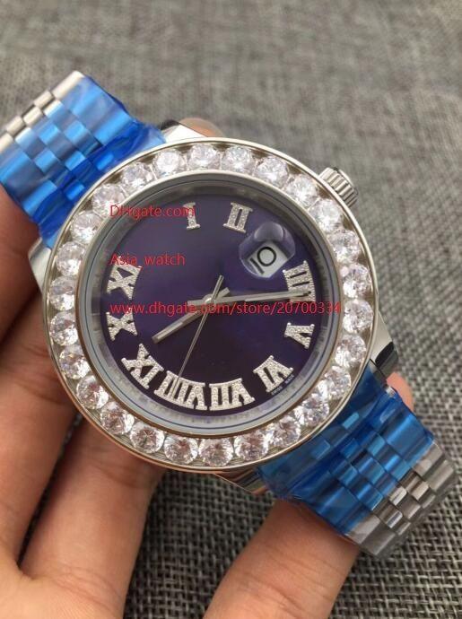 5 cores Top Quality Watch 44mm Data-Data 228239 Big Diamond Roman Dial Asia 2813 Movimento Mens automático Mens Men's Watch Watches