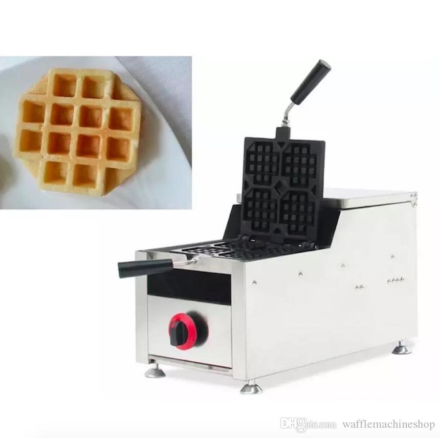 Ticari Gaz Izgara Waffle Kek Makinesi Gaz Waffle Makinesi Makinesi Kolay Operate Waffle Yapma Makinesi Snack Ekipmanları