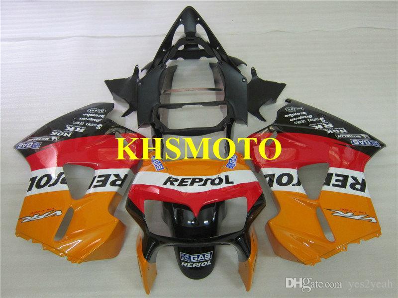 Motorfiets Fairing Kit voor HONDA VFR800RR VFR 800RR 1998 2000 2001 VFR800 98 99 00 01 ROOD ORANGE BLACK VALERINGEN SET