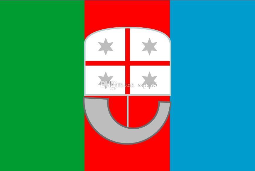 Włochy Flaga Liguria 3FT X 5FT Polyester Banner Latający 150 * 90 cm Niestandardowa flaga na zewnątrz