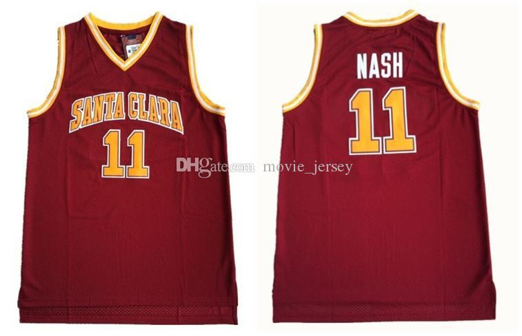 NCAA Santa Clara Koleji 11 Steve Nash Formalar Erkek Basketbol Forması Bağbozumu dikişli Gömlek Klasik Koleksiyonu spor