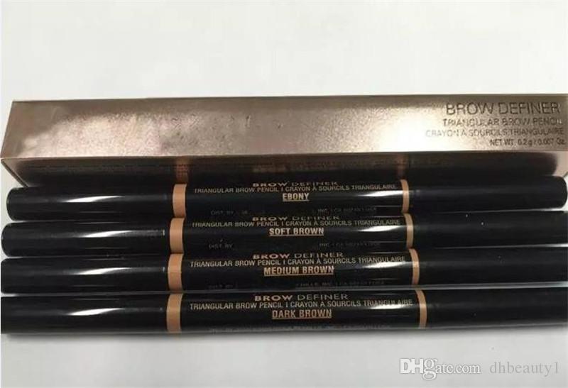 مزدوجة الحاجب قلم خشب الأبنوس الشوكولاته الناعمة البني الداكن