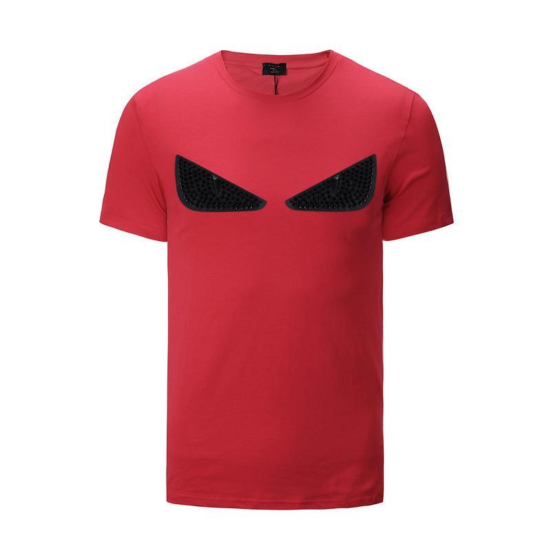 Hommes Designer T Shirts Fashion Designer Hommes Vêtements Été Casual Streetwear Designer T Shirt Rivet Coton Mélange Crew Neck Manches Courtes
