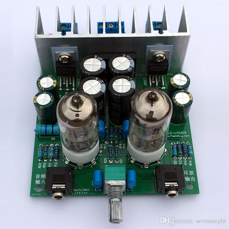 2019 Hifi 6j1 Electronic Tube Preamplifier Board Lm1875t Power Headphone  Amplifier Bile Machine Preamp Amp Module Diy Kits Parts 30W From  Sevennight,