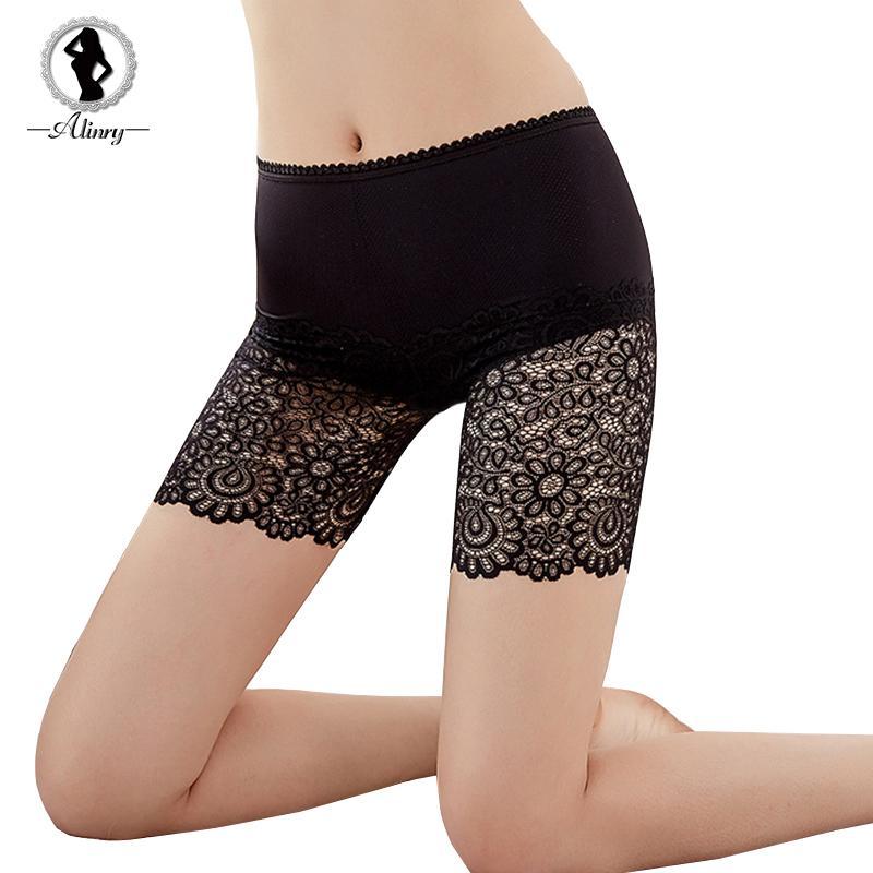 ALINRY seguridad pantalones cortos mujeres sexy de encaje sin costura verano bajo falda corta transpirable medias cortas pantalones ropa interior boxeador
