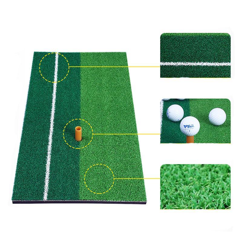 Nouveau Tapis de Golf Pratique Intérieur Cour Mini Golf Tapis Entraînement Frapper Pad Pratique Caoutchouc Titulaire Titulaire Grass Mat Grassroots Vert