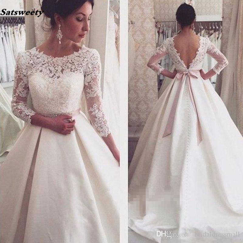 Charming Plus Size Arabic Nigerian Wedding Dresses Beading Belt Cap Sleeve Stain Ruffles Backless Bridal Gowns