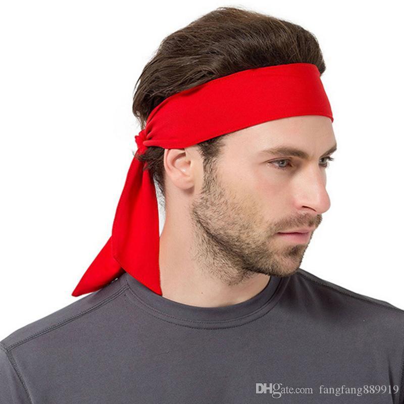 Malla que absorbe el sudor Deportes sólidos Pañuelo en la cabeza Unisex Bandas para el pelo transpirables de secado rápido Banda para el pelo cómoda Gimnasio al aire libre Diadema yoga 6 colores