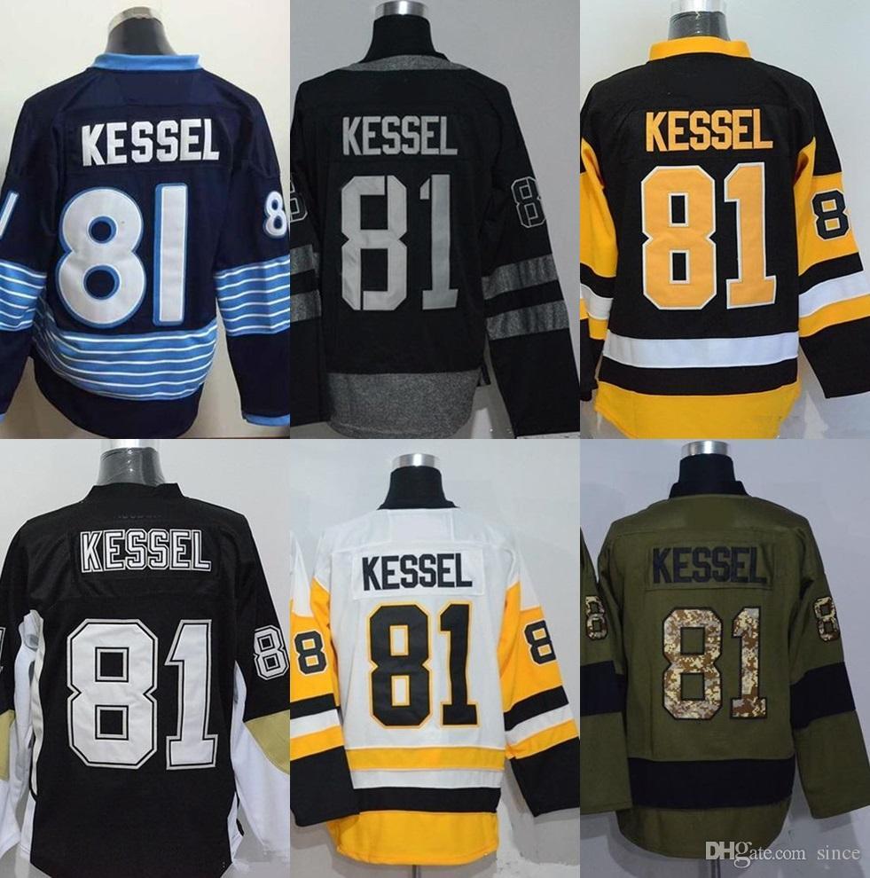 # 81 Phil Kessel blu verde nero giallo bianco degli uomini della presa della fabbrica più nuova maglie hockey su ghiaccio di migliore qualità trasporto libero
