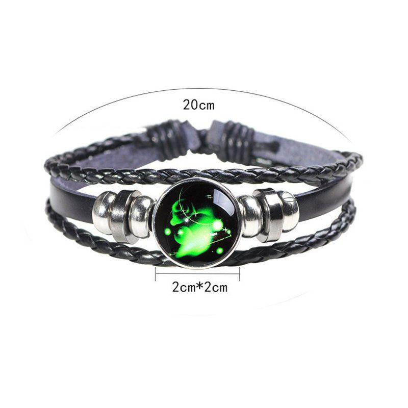 12 Mode Bracelet en verre multicouche Constellation pour bijoux Bracelet ajustable Cuff Zodiac Cabochon Bangle Femmes Kids Drop Ship WJTMP