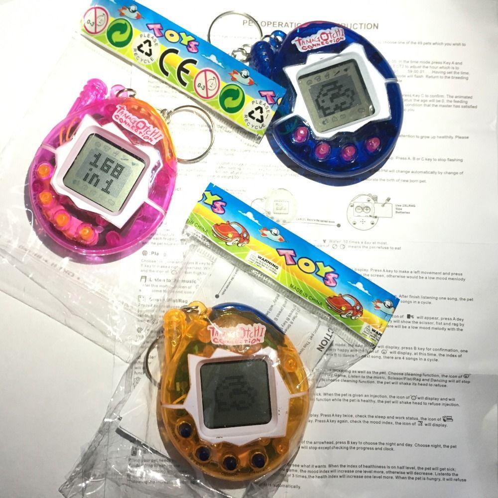 2017 Tamagotchi Elektronik Evcil Oyuncaklar 90 S Nostaljik Bir Içinde 168 Evcil Sanal Siber Pet Oyuncak 6 Stil Tamagochi Penguenler oyuncak