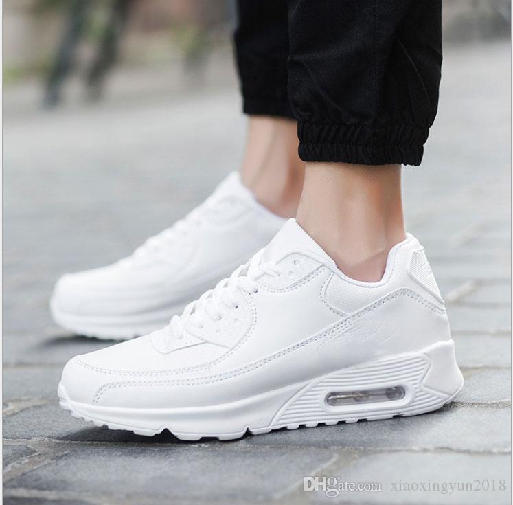 2018 Ucuz Erkekler Sneakers Ayakkabı Klasik 90 Erkekler yürüyüş Ayakkabıları Toptan Drop Shipping Spor Eğitmeni Hava Yastığı Spor Ayakkabı