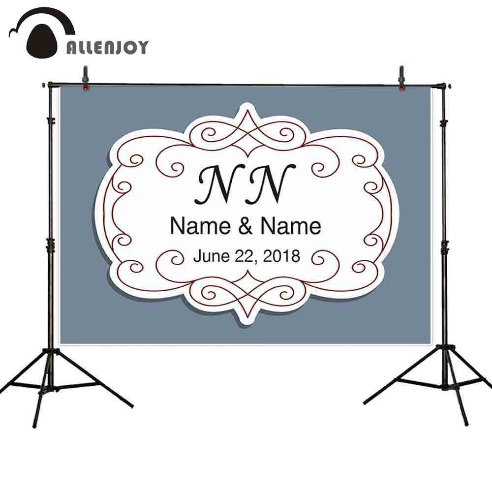 Оптовая backgroud фотоколл серый красное вино рамка на заказ дата имя простой классический свадебный фон fotografia для фото