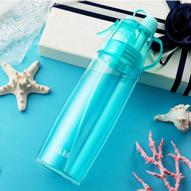 Biotan Tritan Spray Hand Cup Portable Covered Creative Water Cup Estudiante Deportes Botella Space Cup