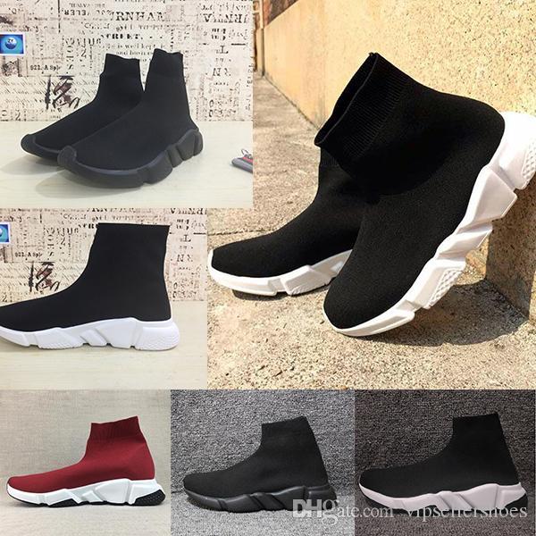 Balenciaga Sock shoes Luxury Brand Velocidade Malha Meia Sapato Designer de Luxo Original Das Mulheres Dos Homens Tênis Baratos Alta Qualidade Superior Sapatos Casuais Sem Caixa
