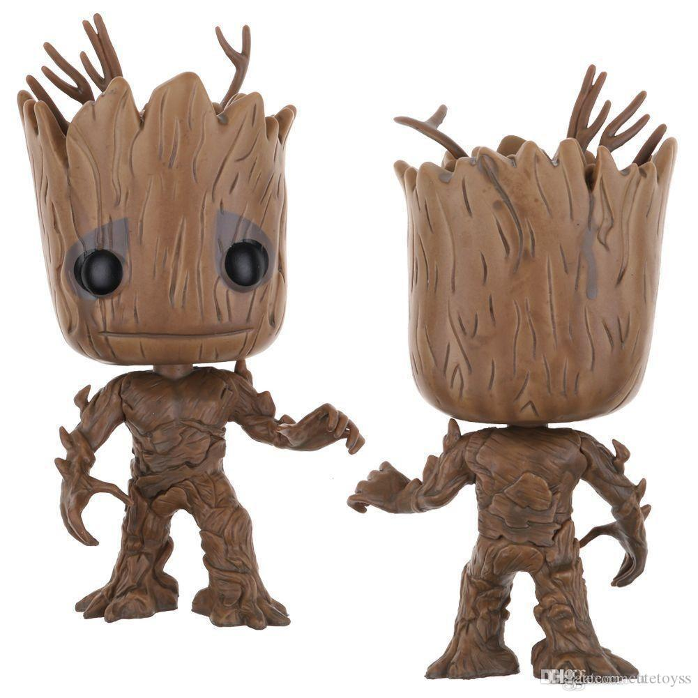 Wholesal dhl ship Funko POP Guardians of the Galaxy Dancing Groot Vinyl Action Figure With Box Toy Gify Doll