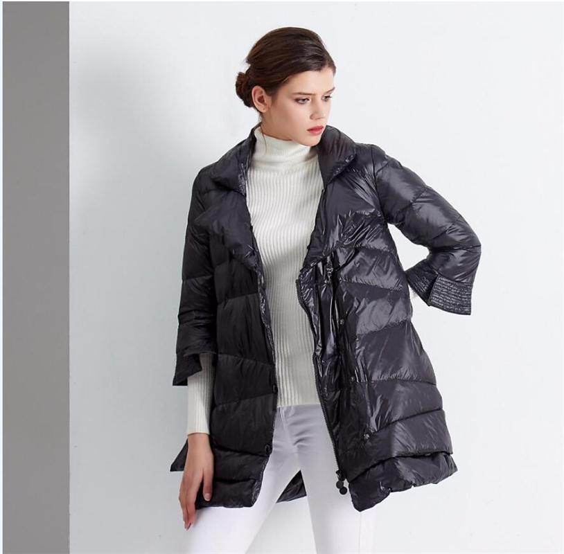 Женская зимняя куртка 2018 Новый темперамент мода плащ свободные куртка женщин вниз зимнее пальто casacas пункт mujer invierno 2018 S18101102