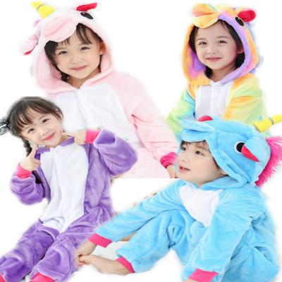 Christmas Footie Pajamas For Kids.2018 New Colorful Unicorn Onesie Kids Flannel Winter Kawaii Hoodie Pyjama Children Animal Blanket Sleepers Pajamas Kigurumi Childrens Pyjamas Sale