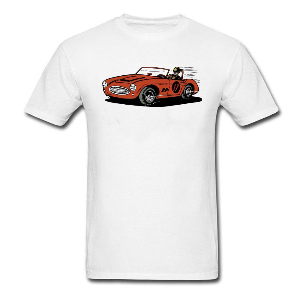 Muscle Car Race T-Shirts Men Cool T Shirt USA Big Size White/Gray Crash Team T Shirt Men Never Fade Brand Clothes Summer