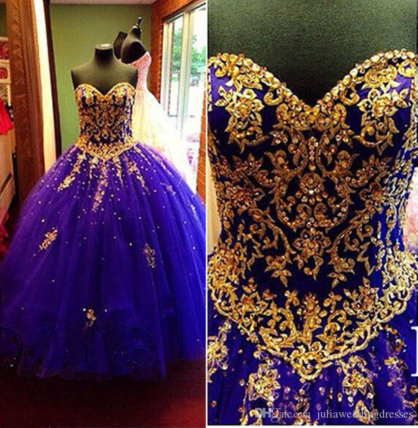 2018 New Beautiful Ball Gown Beading Long Purple Quinceanera Dresses Crystals For 15 Years Sweet 16 Plus Size Prom Party Gown QC1025