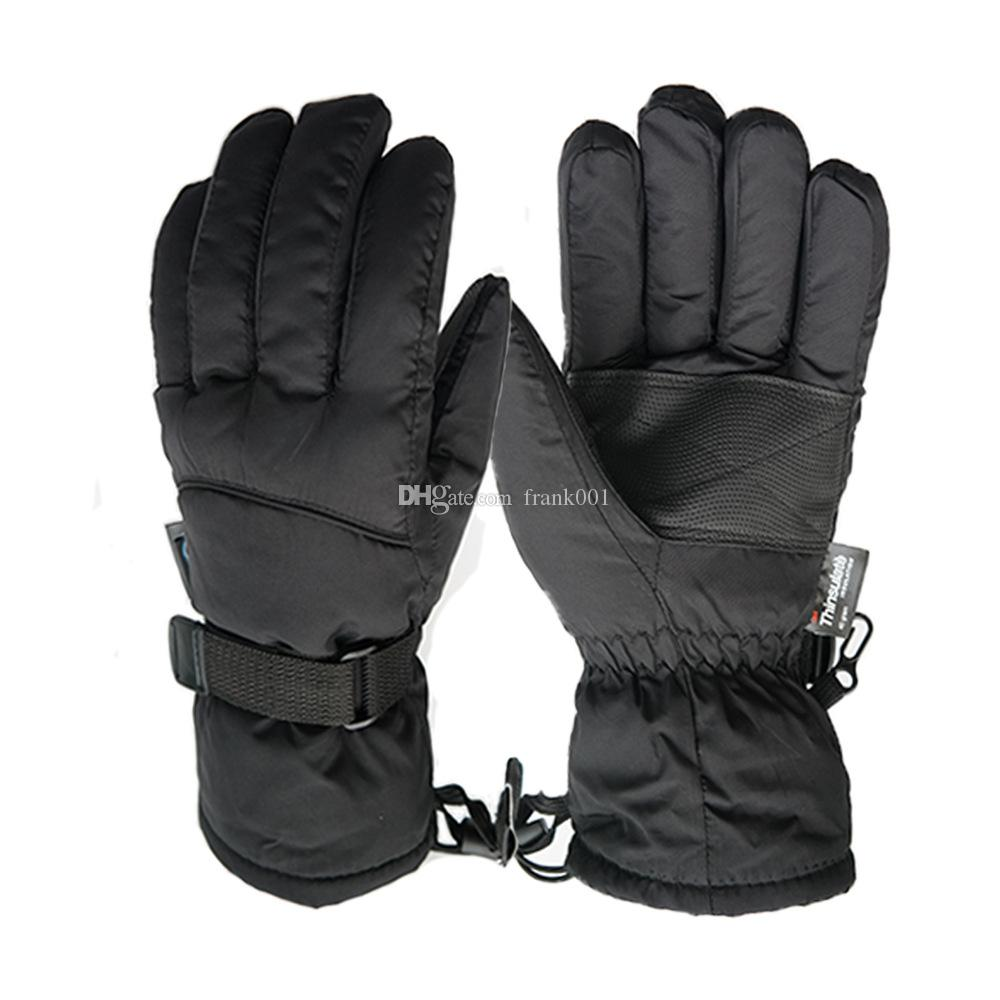 새로운 브랜드 겨울 야외 남자 장갑 겨울 따뜻한 블랙 스키 장갑 전천후 방풍 방수 장갑 무료 배송
