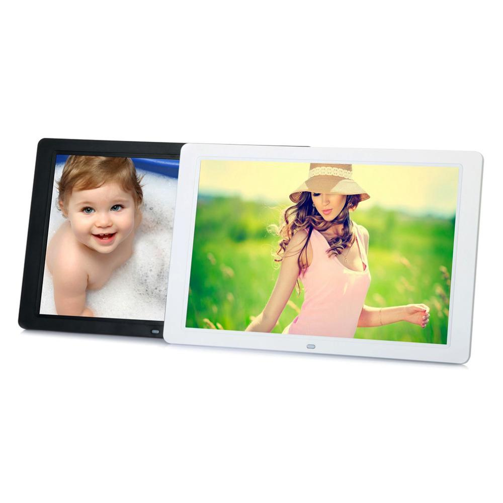 ABD 1280 * 800 Dijital 15 inç HD TFT-LCD Fotoğraf Resim Çerçevesi Çalar Saat MP3 MP4 Movie Player Uzaktan Kumanda ile Toptan