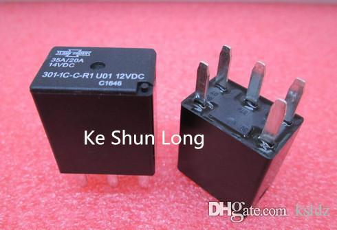 Freeshipping (5pieces / lot) originale nuova canzone CHUAN 301-1C-C-R1 301-1C-C-R1-U01-12VDC 301-1C-C-R1-U02-24VDC 5pins 12VDC 24VDC Relè per uso automobilistico