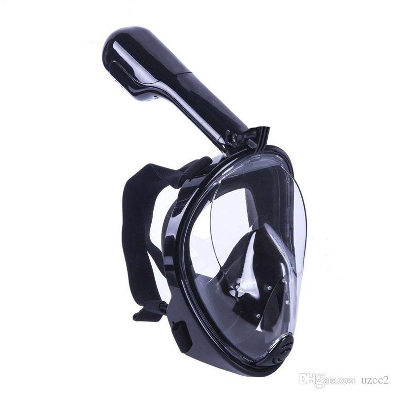 Rosto completo Máscara De Mergulho Com Gopro Camera Anti-fog E Anti-vazamento de Natação Máscara De Mergulho De Pesca Equipamentos para Esportes Aquáticos