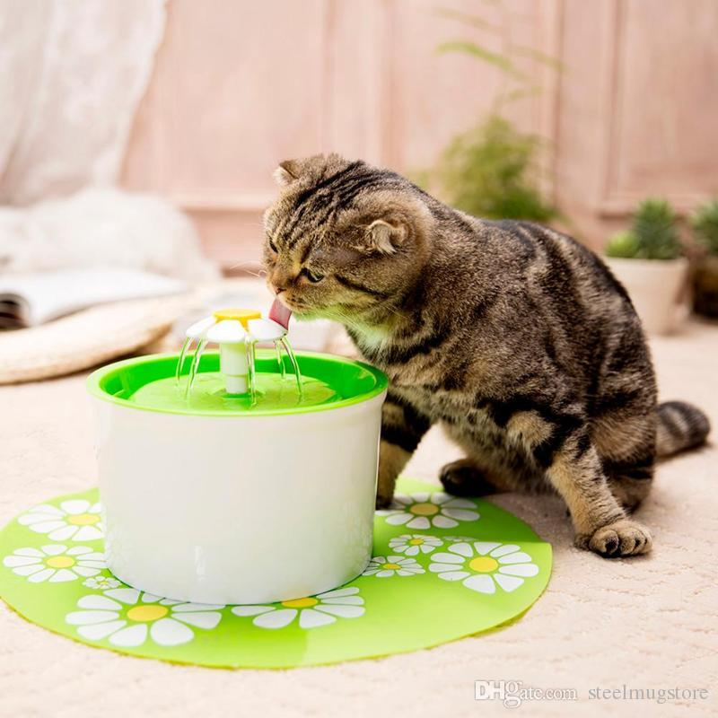 Top Quality ! Flower Stytle Automatic Electric 1.6 L Pet Water Fountain Dog/Cat Drinking