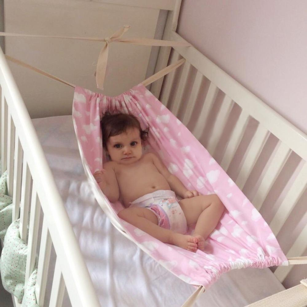 Baby Hammock Suspended Swing with Wooden Frame Panda Cradle Toddlers