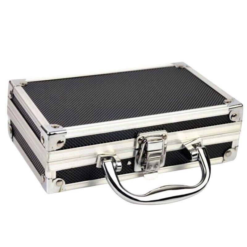 Free shiping Aluminium Alloy Home Storage Box Make Up Organizer Portable Storage Suitcase Travel Luggage Organizer Case Tools