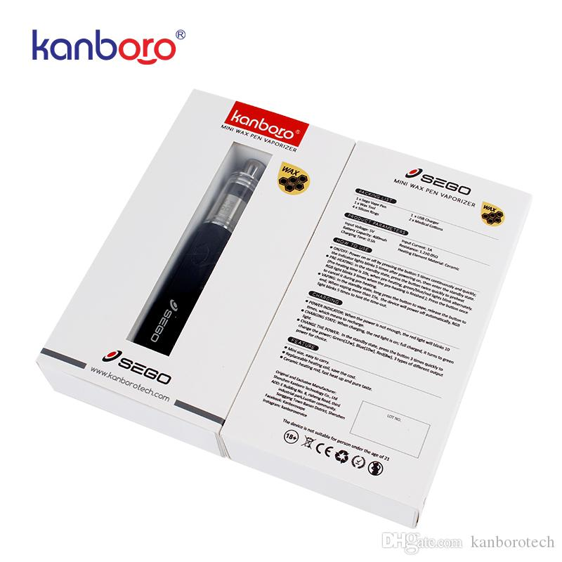 Otantik kanboro sego balmumu kiti seramik bobin balmumu vape buharlaştırıcı 400 mAh vape kalem balmumu kalın yağı buharlaştırıcı kalem 510 e cigs sigara buharı kitleri