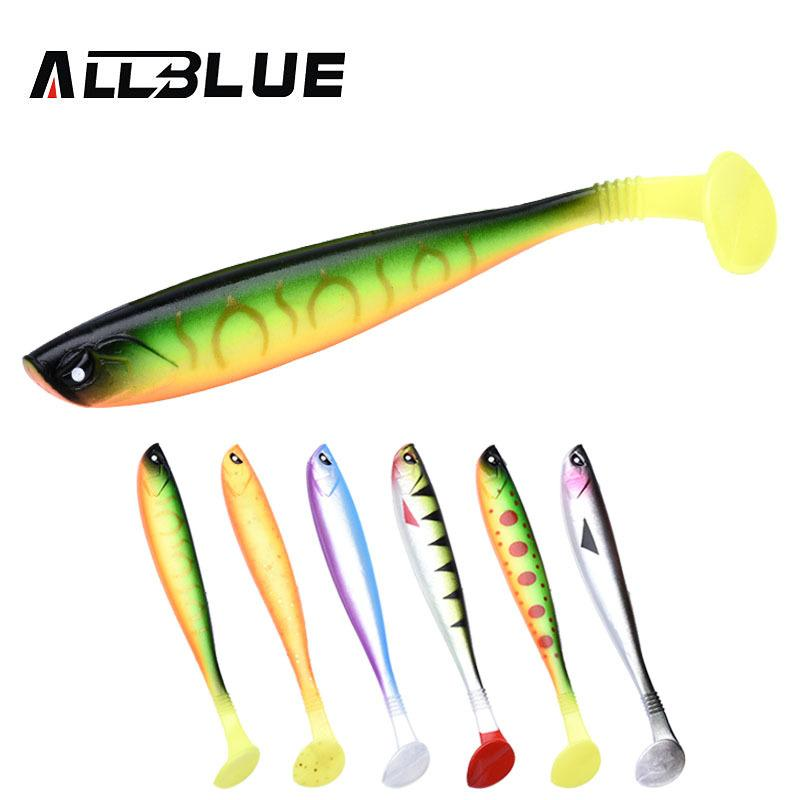 ALLBLUE LUKA 3D SOFT SWIN Fishing Lure 10g/12cm Soft Bait 4pcs/lot Shad Silicone Bass Pike Minnow Swimbait Jigging Plastic Lure Y1890402