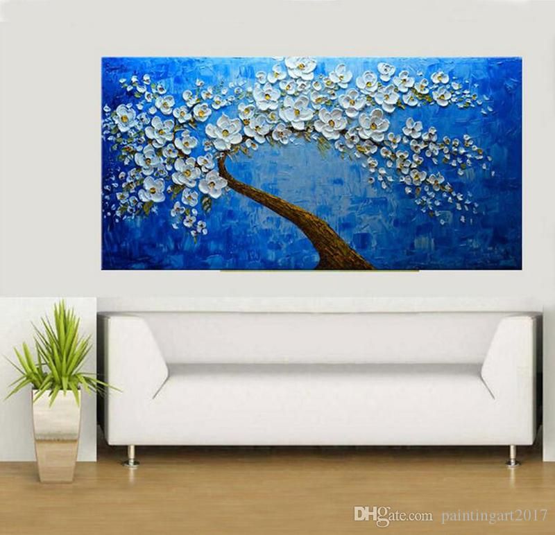 Large Size Handpainted Abstract Palette Knife Flowe Landscape Oil Painting On Canvas Modern Wall Art Pictures For Home Decoration