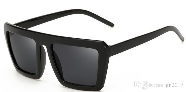 Avrupa Moda Kadın Erkek Retro Güneş Gözlüğü Siyah Renk Kalın Çerçeve Güneş Gözlükleri Gözlükler Renkli Film Adumbral Gözlük