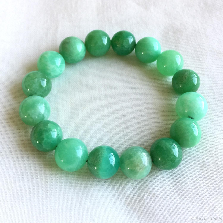 Chrysoprase Jewelry Australian Chrysoprase Beaded Strand Sterling Silver Green Stone Necklace Birthstone Jewelry