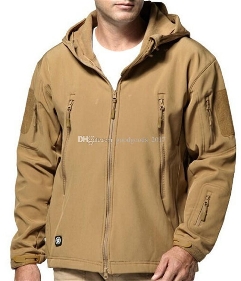 Warm Men's Army Camouflage Men Coat Tactical Jackets Men Waterproof Windbreaker Raincoat Hunt Clothes Mens Hoodies Casual Jacket mk812