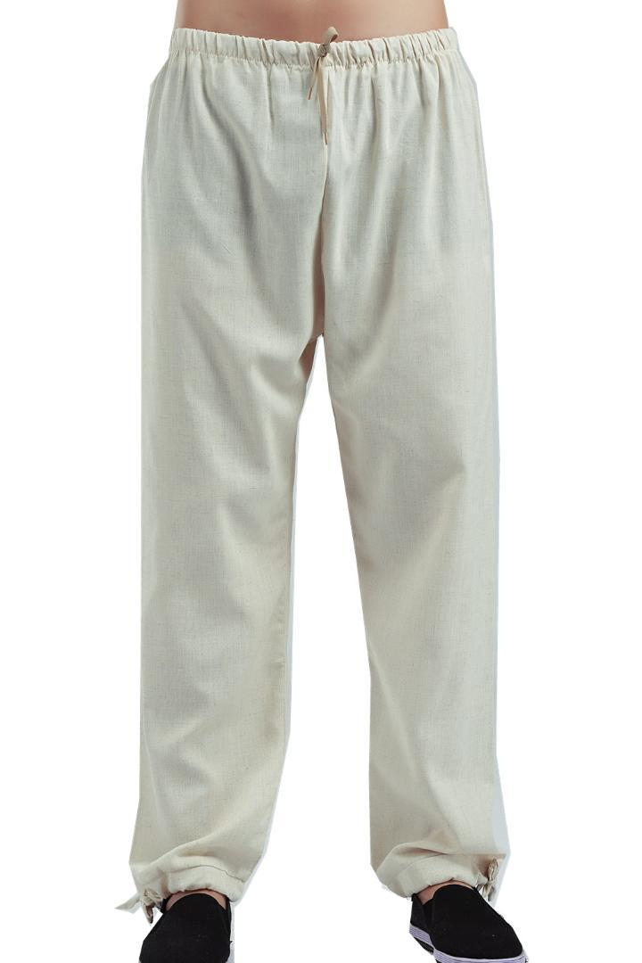Shanghai Story Chinese Traditional Men's Clothing Kung Fu Pants Linen Trousers for Man Kungfu Clothing