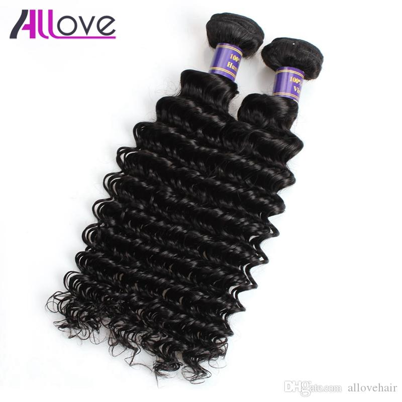 Deep Wave Virgin Hair Extensions Wholesale Cheap 8A Brazilian Hair Wefts 5Bundles Unprocessed Human Hair Bundles Peruvian Indian Malaysian